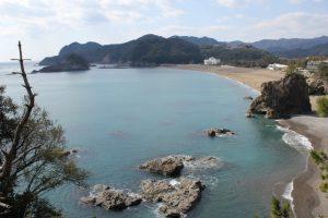 日和佐町ウミガメが上陸する大浜海岸(2016.3)
