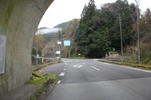 鵯田峠へ 落合トンネル分岐(2016.12)
