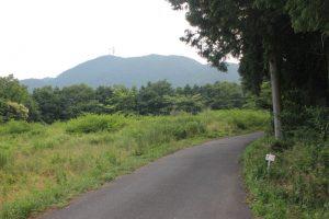 尾根道から雲辺寺山頂を望む(2017.6.24)