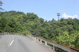 標高230m・出石寺まで約7㎞付近にショートカットが(2017.9)