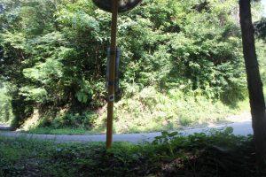 ケーブル遍路道(390m)から車道(2017.9)