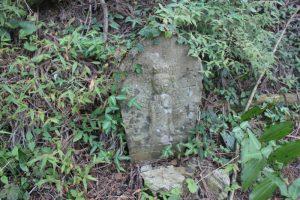 山道には丁石が(2017.9)