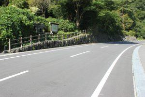 左:遍路道 右:車道のへんろ道? (2017.9)