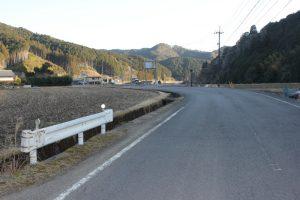 七子峠への車道(2018.2)