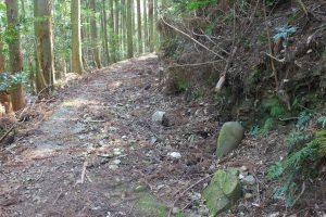 遍路道脇には江戸期の石仏(2019.4)