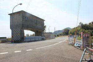 JR田井ノ浜駅脇の県道と合流(2019.4)