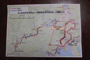 貝谷峠ルート図(2019.6)
